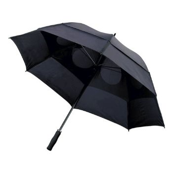 Personalised Storm Proof Vented Umbrella - Black